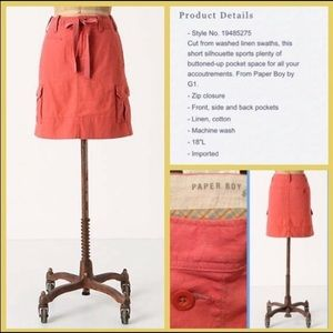 Anthropologie Skirts - Paper Boy Anthro | Place For Everything Skirt